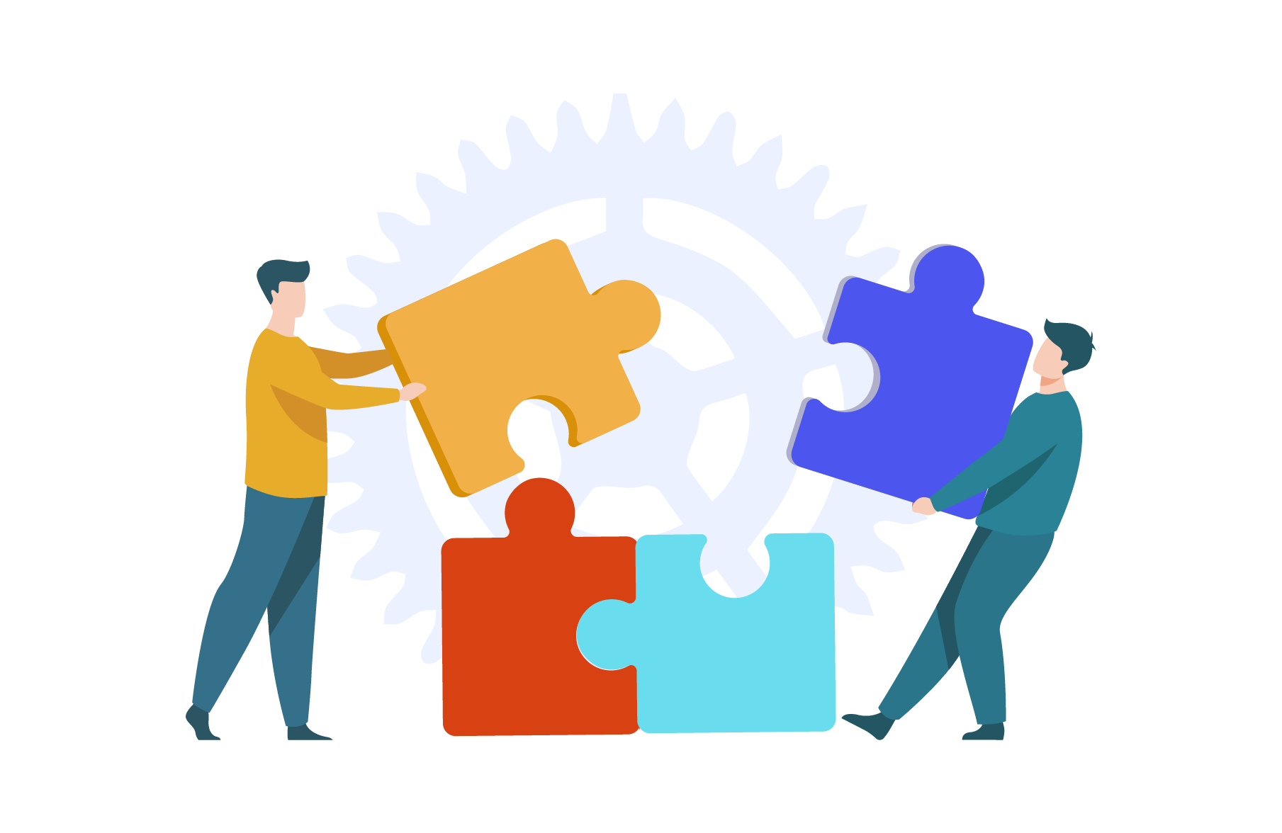 Build and manage a team to take charge of the work assigned by the customer
